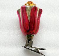 Antiker Russen Christbaumschmuck Glas Weihnachtsschmuck Ornament Flower Blume