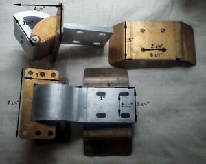 "2 Universal 6"" Suicide Door Hinges HEAVY DUTY - USE ONLY 1 PER DOOR - EZ INSTALL"