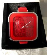 Nixon Women's Rocio  A162200-00 Red Dial Analog Casual Silicon Band Quartz Watch