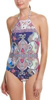 La Blanca 236654 Womens Scarf Gypsy High Neck One Piece Swimwear Multi Size 6