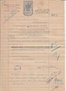 LIBYA ,   Document with  Revenue Stamped 1946