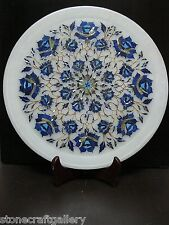 "13"" x 13"" Marble Plate Inlay Pietra Dura Handmade Craft Home Decor & gifts"