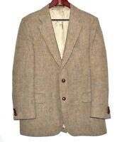 Andersen Little HARRIS TWEED Handwoven Beige Brown Mens Sport Coat Size 42R USA