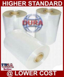 "18"" 2625 ft 100 Ga Central Fold Polyolefin Heat Shrink Wrap Industrial Packaging"