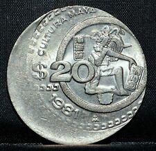 1981 $20 Mexico ✪ 30% Off-Center ✪ Major Error Struck Bu Uncirculated ◢Trusted◣