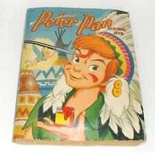 Vintage Peter Pan 1952 Coloring Book Walt Disney Paper Piecing Completed Artwork