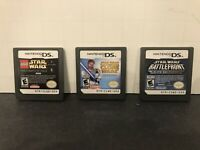 Star Wars Nintendo DS Lot Of 3 Games: Lego, Clone Wars, Battlefront - Game Only