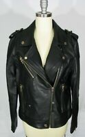 BLANK NYC Size L The One Genuine Leather Black Moto Jacket NWT