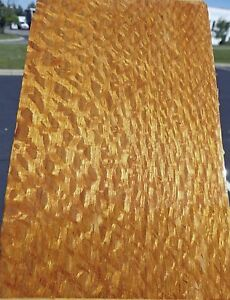 "Australian Lacewood Pebble wood veneer 5"" x 106"" raw no backing 1/42"" thickness"