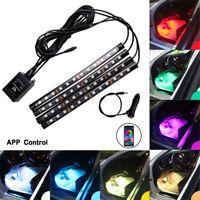 12V LED RGB Car Interior Atmosphere Light Strip Bar Multicolour APP  Control