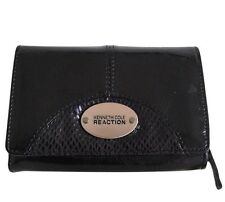 Kenneth Cole Reaction Women's Black Patent Leather Wallet Organizer NWOT