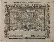 Sebastian Münster: Mirandula Lombardia Holzschnitt um 1560 exzellenter Zustand!