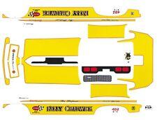 KELLY CHADWICK 1971 VEGA FC Yellow NHRA 1/43rd Scale Slot Car Waterslide Decals