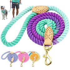 5FT Dog Leash Soft Braided Cotton Rope Pet Lead Walking Training Medium Large