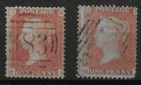 SG24. 1d.Red-Brown(SCp14)-2 FU Examples Showing Light & Strong Blueing. Ref:0917