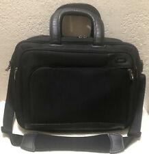 Zero Halliburton Black Nylon Padded Laptop Briefcase Business Profile
