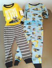Carters Nwt Boy 18 Months 4-Piece Construction Snug Fit Cotton Pjs Multicolored*