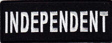 """""""INDEPENDENT"""" Iron On Patch Vest Title Saying Motorcycle Biker"""