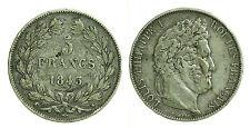 pcc1051) FRANCIA 5 francs Louis Philippe I 1845 W -  LILLE NC