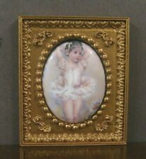 "FIRED PORCELAIN PICTURE ~ ""Ballerina"" ~Dollhouse ~ 1:12 scale ~Room Box"