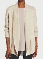 NWT $378 Eileen Fisher Maple Oat Lush Merino/Yak Wool Shawl Collar Cardigan L XL