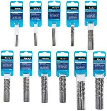BlueSpot Metal HSS Metric Drill Bits set 10pc Packs 1 to 4.8mm for Steel & Wood