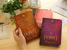 Retro Hard Cover Hobbit Magic The Lord Of The Rings Journal Diary Ruled Notebook