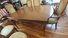Dining table + 6 chairs 2 extension leafs Early 1960's Vintage In Mint Condition
