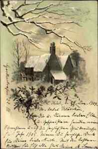 Künstlerkarte 1904 gelaufen ab KIEL nach Verden Aller, alte Postkarte KünstlerAK