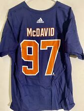 adidas  NHL T-Shirt Edmonton OIlers Connor McDavid Navy sz XL