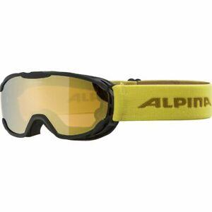 Alpina Skibrille PHEOS Junior, in black curry, Ski Brille Kinder