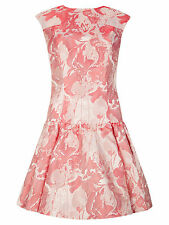 "TED BAKER PINK""SCHERRY""JACQUARD FLORAL PARTY OCCASION DRESS UK14/ 4 US 10  BNWOT"