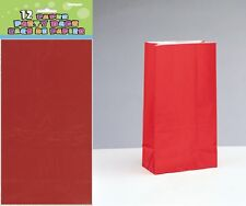 10/12 PAPER PARTY (Loot) BAGS Colour Range- Treat Gift Sweet Candy Birthday Xmas