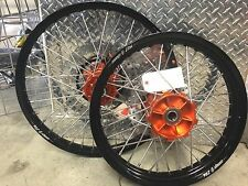 "WARP 9 CUSTOM WHEEL SET 21"" 18"" KTM 690 ENDURO NON-ABS MODELS CUSH HUB"