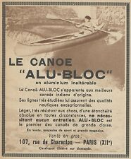 Z9471 Le Canoe ALU-BLOC -  Pubblicità d'epoca - 1939 Old advertising