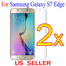 2x Full Cover Curved Clear Screen Protector Guard Film Samsung Galaxy S7 Edge