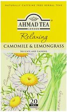 Ahmad Camomile & Lemongrass 6 Boxes of 20 Tea Bags   Free UK Delivery