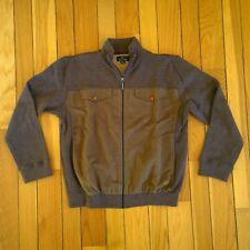 FRED PERRY Mens Wool Blend Full Zip Mod Jacket Medium Brown