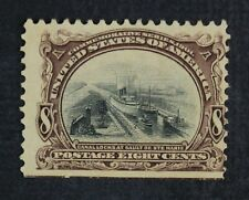 CKStamps: US Stamps Collection Scott#298 8c Unused NG Straight Edge