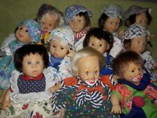 "Vtg 8"" Gi-GO My Pals Bean Bag Kids Expressive Face Doll Lot of 11"