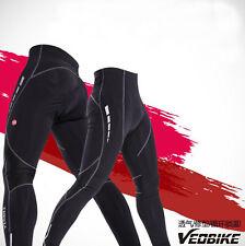 Mens Cycling Road Bike Gel Padded Tights Padded Legging Trousers Long Pants