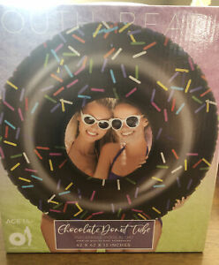South Beach chocolate Donut tube- inflatable pool float - Brand New