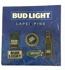 New Sealed Bud Light Beer Lapel Pins Set 6 Blimp Bottle Cap Can Prompt Shipping