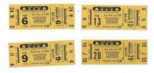 LOT OF 4 DIFFERENT 1966 NEW HAVEN BLADES TICKETS, NEW HAVEN ARENA, CONN