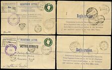 POLAND WW2 REGISTERED STATIONERY 1944 MAY +JUNE via ITALY to EGYPT FPO 138 + 123