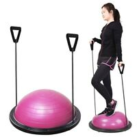 """23"""" Exercise Fitness Yoga Balance Trainer Ball W/ Resistance Bands & Pump Pink"""