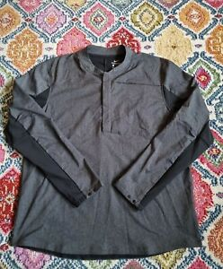 Nike Golf Shield 1/4 Zip Overhead Jacket Top Large Grey