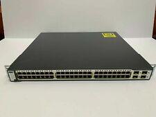 Cisco WS-C3750G-48TS-S 48 Gigabit Ports Layer 3 Switch 3750G-48TS-E ios 15.0 (2)