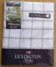LEXINGTON ICONS PIN POINT SQUARE PILLOWCASE 100% COTTON IN GREY CHECK