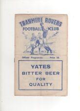 1952-53 Tranmere Rovers V Accrington Stanley 24th GENNAIO 1953, DIVISIONE 3 North